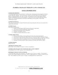 Resume Examples For Massage Therapist Resume Template Ideas