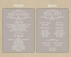 wedding party program templates 038 free printable wedding ceremony program templates