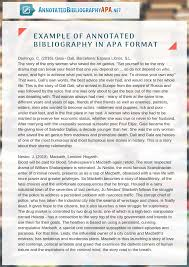 Perfect Sample Annotated Bibliography Apa 6th Edition