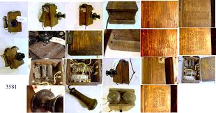item 3581 is a western electric oak compact wall phone antique telephone the overall condition of the wood is good the finish is poor