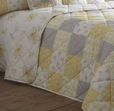 Patsy Quilted Bedspread in Lemon - Terrys Fabrics UK & Patsy Quilted Bedspread Adamdwight.com