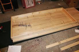 farmhouse table under build top