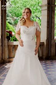 Plus Size Lace Wedding Dresses With Cap Sleeves