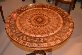 three leaves furniture stenciled old orange oak table brown on french country superb top small glass coffee
