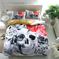 skull and crossbones bedding pink rose sugar skull bedding set skull and crossbones bedding