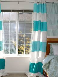 Striped Bedroom Curtains Blue Horizontal Striped Curtains Free Image