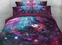 51 vivilinen 3d starulticolored galaxy printed 5 piece comforter sets