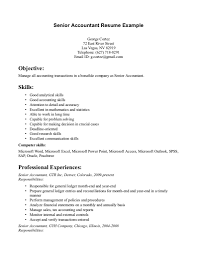 Tax Accountant Resume Objective Examples Senior Accountant Resume Objective Sample India Template Format In 26