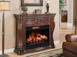 lexington infrared electric fireplace mantel in empire cherry 33wm881 c232