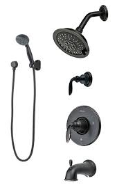 bronze shower system with valve trim head hand tub spout and oil rubbed bar systems oil rubbed bronze shower system