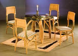 cane dining set