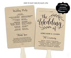 Printable Wedding Program Template Fan Free Stationery