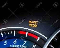 Service Light On Dashboard Engine Maintenance Or Service Light Is On In Car Dashboard Car