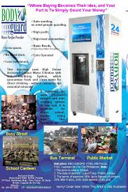 Vending Machine Brochure Gorgeous Water Vending Machine BG WaterBG Water