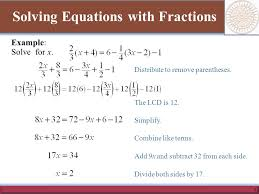 3 solving equations with fractions example solve for x