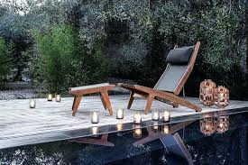 gloster outdoor furniture. Bay Teak Reclining Chair And Ottoman By Gloster Outdoor Furniture