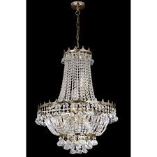 searchlight versailles 9 light ceiling chandelier light with trimmed with crystal decoration gold finish 9112 52go affordable lighting searchlight