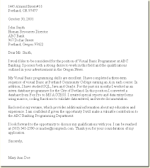 Sample Cover Letter For Job Application Pdf My College Scout