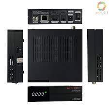 Gtmedia V9 Super Dvb-S2 Set Top Box Penerima Siaran Video Digital Hd 1080p  Support Wifi H.265 Untuk Tv