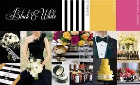 Black White Wedding Decor Visions Event Studio