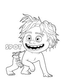 Small Picture the good dinosaur Spot coloring pages Kids Coloring Pages