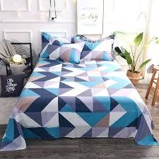 plaid twin bed set colorful flat sheets king size pretty geometric