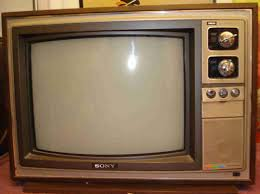 sony tv old. old sony television with channel dials tv