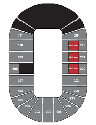 Resch Center Seating Chart With Seat Numbers Club Seats Resch Center