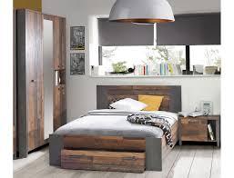 Jugendzimmer Cedric 67 Vintage Braun 3 Teilig Schlafzimmer Bett Nako