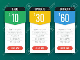 Price Chart Template Comparison Price Chart Table Pricing Plan Vector Template Royalty 1