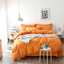 orange duvet cover solid colored yellow green blue pink white orange striped bedding set queen size