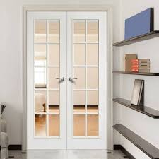 60 X 80  Unfinished Wood  Wood  French Doors  Interior French Doors Interior