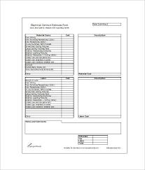 Electrical Estimator Resumes Image Result For Electrical Estimate Format In Excel