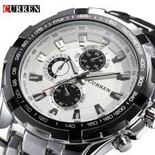 popular luxury watch buy cheap luxury watch lots from 2017 brand luxury full stainless steel watch men business casual quartz watches military wristwatch waterproof relogio