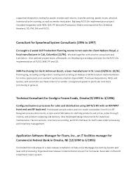 Computer Systems Manager Sample Resume Extraordinary Erp Implementation Resume Sample Free Template Design