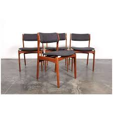set of 4 danish mid century dining chairs designed by erik buch for o d mobler