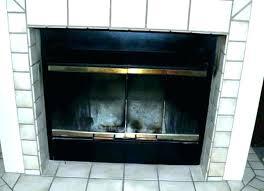 fireplace door installation mounting brackets