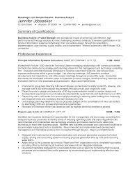 Sample Resumes For Business Analyst Resume Of A Business Analyst Templates At