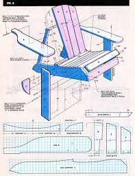 drawing furniture plans. Classic Adirondack Chair Plans - Outdoor Furniture Drawing T