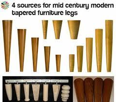 mid century modern furniture legs