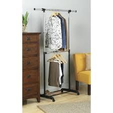 whitmor supreme double rod garment rack cover adjule steel 2 free