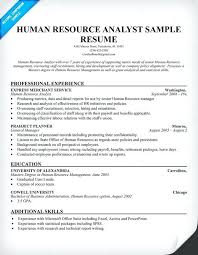 Human Resources Resume Examples Hr Analyst Resume Human Resources