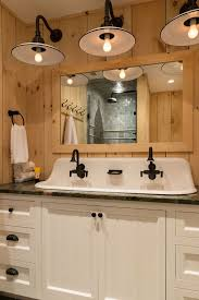 bathroom farm sink. Instead Of 2 Separate Sinks, Hereu0027s One Vintage Sink With Faucets- You Share Bathroom Farm R