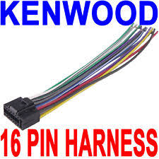 kenwood car audio and video wire harness ebay Kenwood Ddx470 Wiring Diagram kenwood wire wiring harness 16 pin cd radio stereo kenwood ddx370 wiring diagram