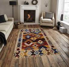 vimla international very exclusive and royal wool hand woven flat weave rug size 3x5