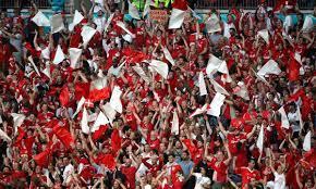 England fans after semi-final ...