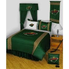 minnesota wild nhl sidelines comforter