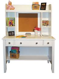 image of white desk with hutch bedroom
