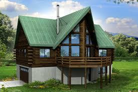 a frame house plan eagle rock 30 919 rear elevation