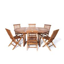 All things cedar 7 piece oval outdoor dining set lowes canada